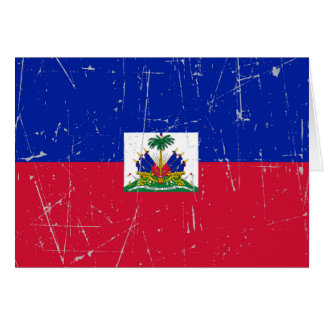 Scuffed and Scratched Haitian Flag Greeting Card