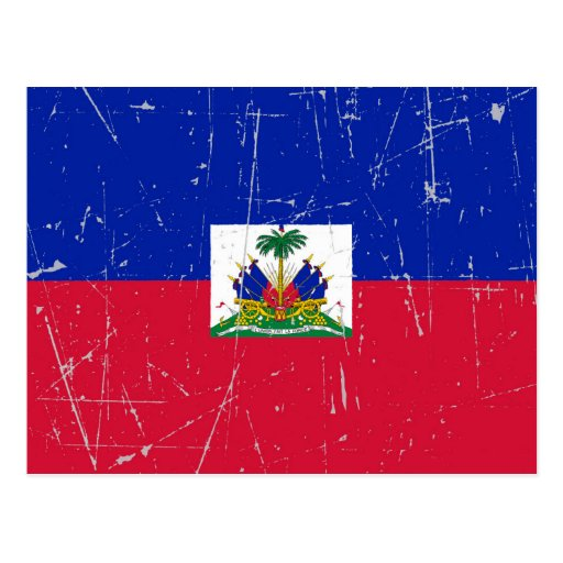 Scuffed and Scratched Haitian Flag Postcards