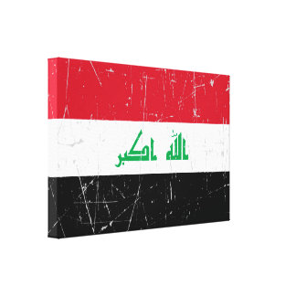Scuffed and Scratched Iraqi Flag Canvas Print