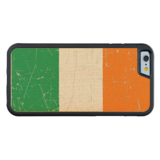 Scuffed and Scratched Irish Flag Carved Maple iPhone 6 Bumper Case