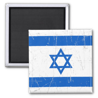 Scuffed and Scratched Israeli Flag Refrigerator Magnets
