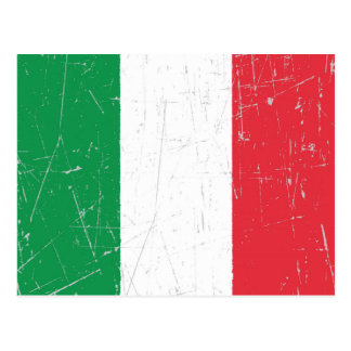 Scuffed and Scratched Italian Flag Postcard