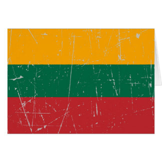 Scuffed and Scratched Lithuanian Flag Greeting Cards