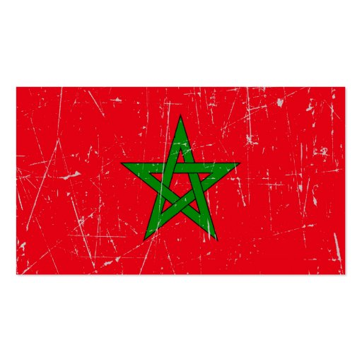 Scuffed and Scratched Morocco Flag Business Card