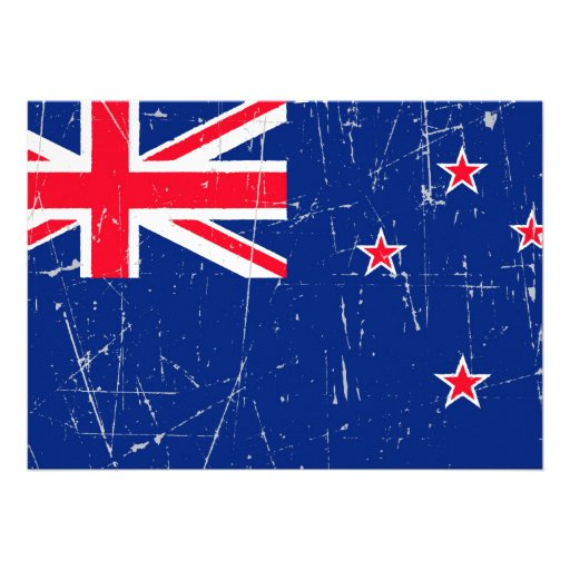 Scuffed and Scratched New Zealand Flag Invitation