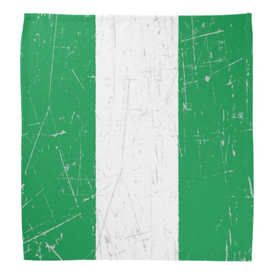 Scuffed and Scratched Nigerian Flag Bandana