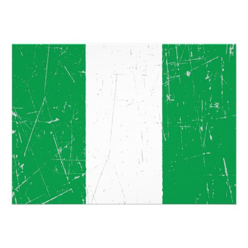 Scuffed and Scratched Nigerian Flag Invites