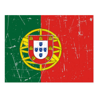 Scuffed and Scratched Portuguese Flag Postcard