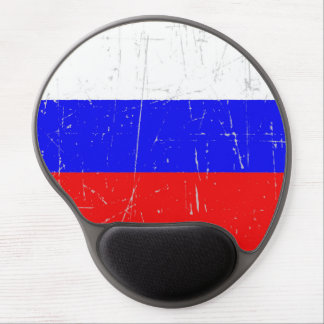 Scuffed and Scratched Russian Flag Gel Mouse Mats
