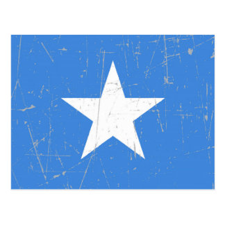Scuffed and Scratched Somalia Flag Postcard