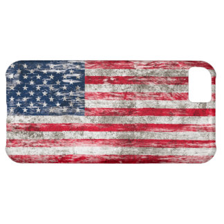 Scuffed and Worn American Flag iPhone 5C Case