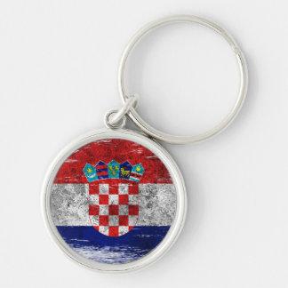 Scuffed and Worn Croatian Flag Key Ring