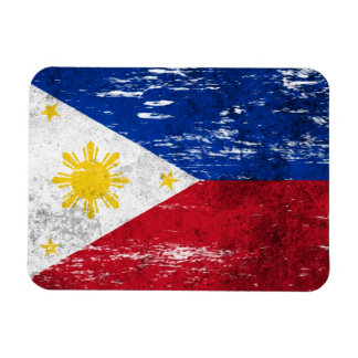 Scuffed and Worn Filipino Flag Magnet