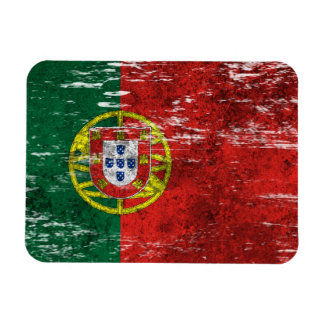 Scuffed and Worn Portuguese Flag Rectangular Photo Magnet