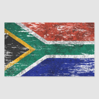 Scuffed and Worn South African Flag Sticker