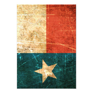 Scuffed and Worn Texas Flag Announcement