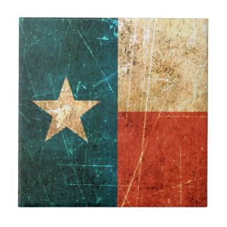 Scuffed and Worn Texas Flag Tile