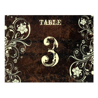 Scuffed Leather Table Number Card (Cream, flat)