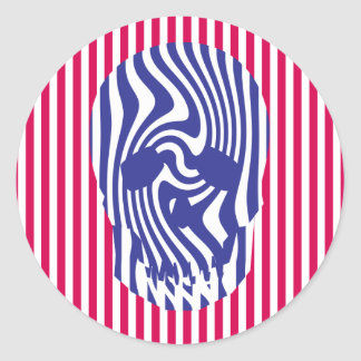 Scull and Stripes Op Art Stickers