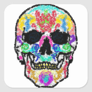 Scull products square sticker