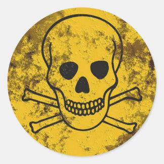 scull round sticker