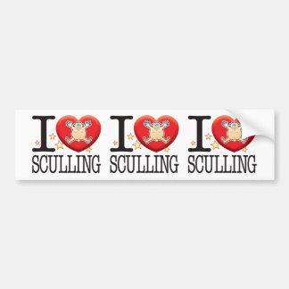 Sculling Love Man Bumper Sticker