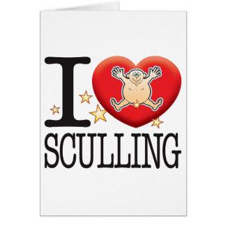 Sculling Love Man Card