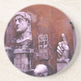 Sculpted Body Parts  Colossus of Constantine Rome Drink Coaster