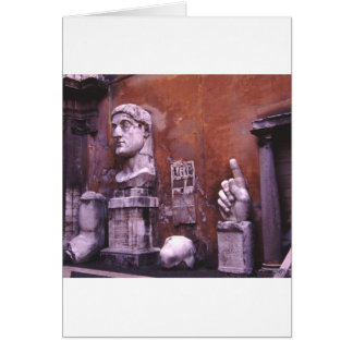 Sculpted Body Parts  Colossus of Constantine Rome Greeting Card