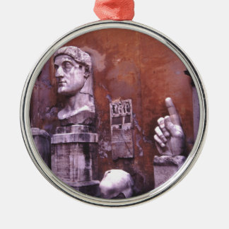 Sculpted Body Parts  Colossus of Constantine Rome Silver-Colored Round Decoration