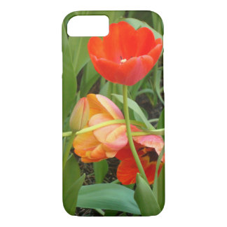 Sculpted Orange And Red Tulips iPhone 7 Case
