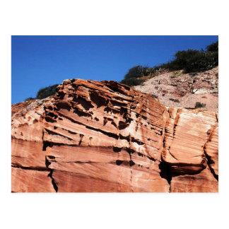 Sculpted sandstone, Los Gatos anchorage Postcard