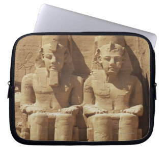 Sculpture at Abu Simbel -Cairo, Egypt Laptop Sleeve