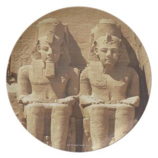 Sculpture at Abu Simbel -Cairo, Egypt Plate
