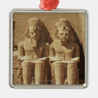 Sculpture at Abu Simbel -Cairo, Egypt Silver-Colored Square Decoration