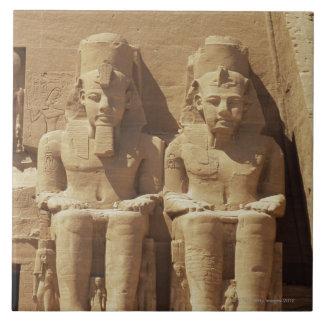 Sculpture at Abu Simbel -Cairo, Egypt Tile