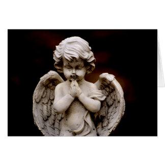 Sculpture of Cupid Angel, Memorial, Condolence Card