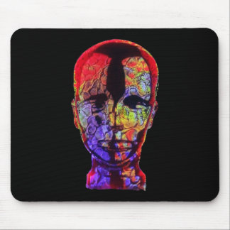 Sculpture of Head Mouse Pad in Black Head