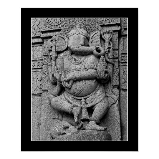 Sculpture Of Lord Ganesha Poster
