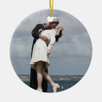 Sculpture Unconditional Surrender in San Diego Christmas Ornament