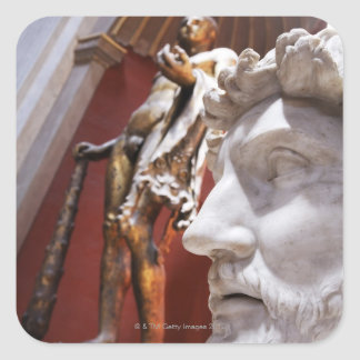 Sculptures inside Vatican Museum, Vatican City, Square Sticker