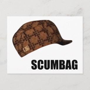 Scumbag Steve Hat Meme Postcard