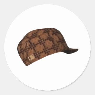 Scumbag Steve Hat Meme Round Sticker