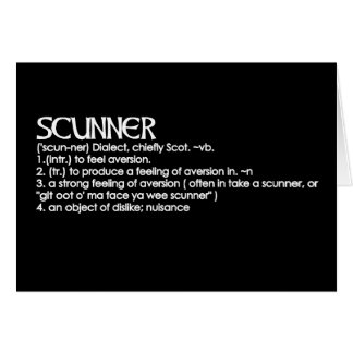 Scunner Greeting Card