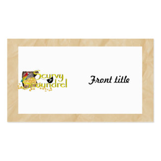 Scurvy Scoundrel Text w/Pirate Treasure Chest Business Card Template