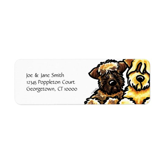 SCWT Brown and Gold Return Address Label