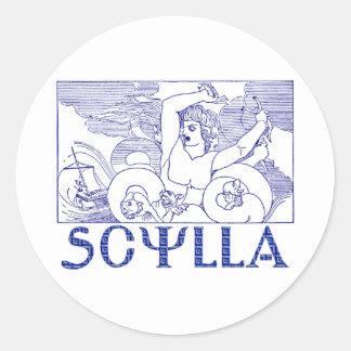 Scylla Round Sticker