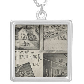 Scythestone works, Pike Manufacturing Co Silver Plated Necklace