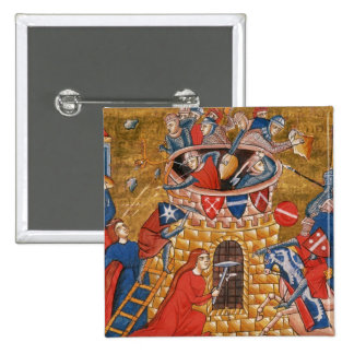 Scythian women besieging their enemies 15 cm square badge