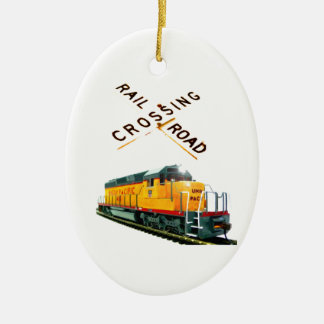 SD-40 Crossing Christmas Ornament